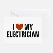 I Love My Electrician Greeting Cards (Pk of 10)