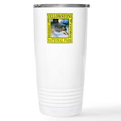 Yellowstone National Park Wol Travel Mug