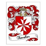 Chevalier Family Crest Small Poster