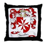 Chevalier Family Crest Throw Pillow