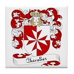 Chevalier Family Crest Tile Coaster