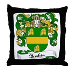 Chretien Family Crest Throw Pillow