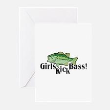 Girls Kick Bass! Greeting Cards (Pk of 10)