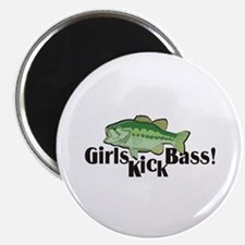 Girls Kick Bass! Magnet