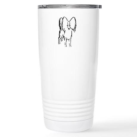 Papillon Sketch Stainless Steel Travel Mug