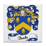 Claude Family Crest Tile Coaster