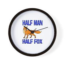 Half Man Half Fox Wall Clock