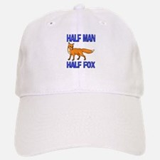 Half Man Half Fox Baseball Baseball Cap