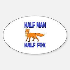 Half Man Half Fox Oval Decal