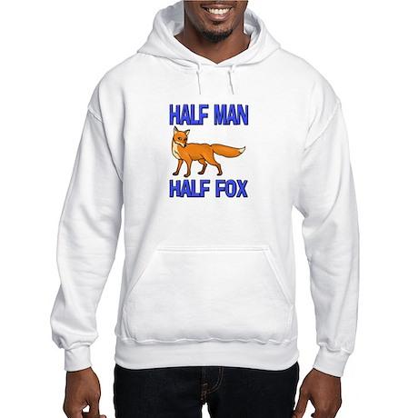 Half Man Half Fox Hooded Sweatshirt