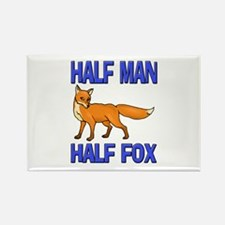 Half Man Half Fox Rectangle Magnet