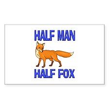 Half Man Half Fox Rectangle Decal