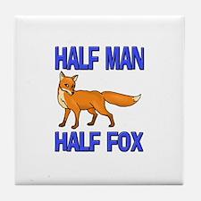 Half Man Half Fox Tile Coaster