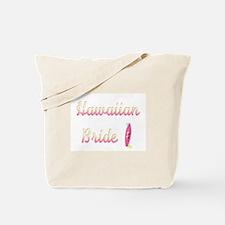 Hawaiian Bride (Surfboard) Tote Bag