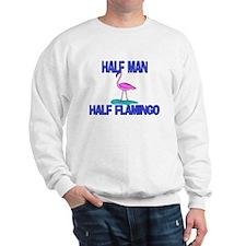 Half Man Half Flamingo Sweatshirt