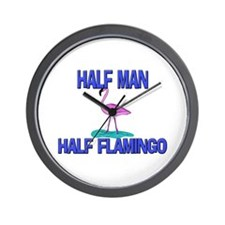 Half Man Half Flamingo Wall Clock