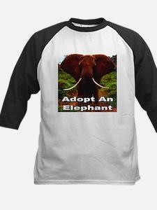 Adopt An Elephant Kids Baseball Jersey