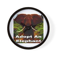 Adopt An Elephant Wall Clock