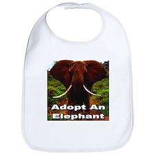 Adopt An Elephant Bib