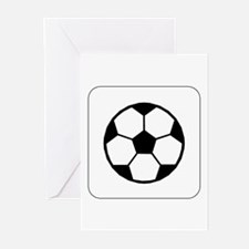 Soccer Ball Icon Greeting Cards (Pk of 10)