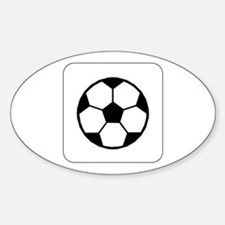Soccer Ball Icon Oval Decal