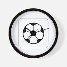 Soccer Ball Icon Wall Clock