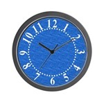 Textured Light Blue Look Wall Clock