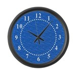 Textured Light Blue Look Large Wall Clock