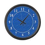 Textured Light Blue Look Large Wall Clock