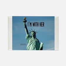 Women's Marches–I'm With Her Lady Liberty Magnets