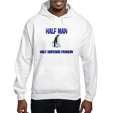 Half Man Half Emperor Penguin Hoodie