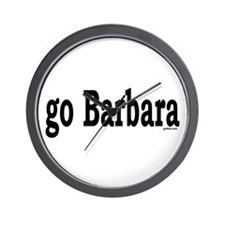 go Barbara Wall Clock