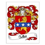 Collet Family Crest Small Poster
