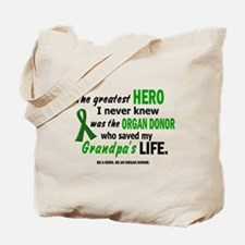 Hero I Never Knew 1 (Grandpa) Tote Bag