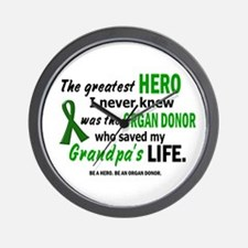 Hero I Never Knew 1 (Grandpa) Wall Clock