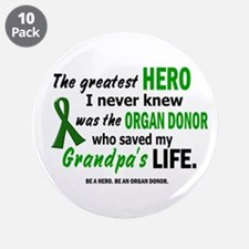 "Hero I Never Knew 1 (Grandpa) 3.5"" Button (10 pack"