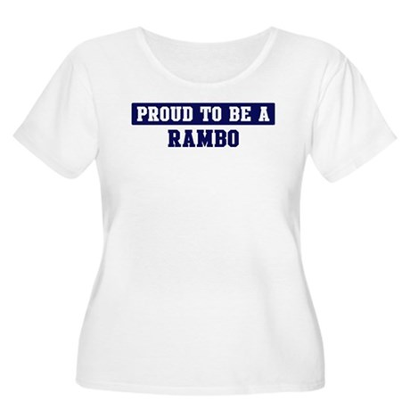 Proud to be Rambo Women's Plus Size Scoop Neck T-S