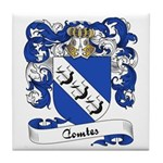 Comte Family Crest Tile Coaster