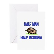 Half Man Half Echidna Greeting Cards (Pk of 10)