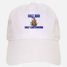 Half Man Half Earthworm Baseball Baseball Cap
