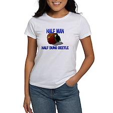 Half Man Half Dung Beetle Tee