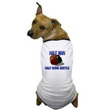 Half Man Half Dung Beetle Dog T-Shirt