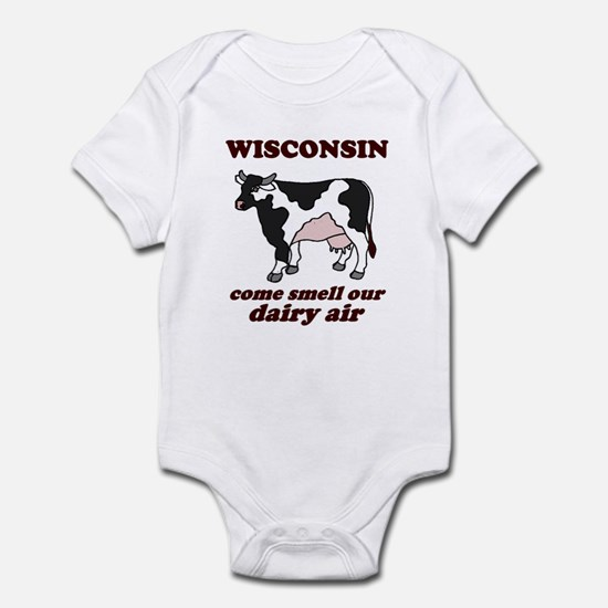 Wisconsin Smell Dairy Air Infant Bodysuit