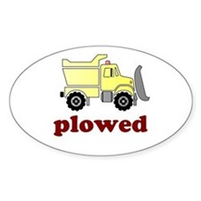 Plowed Oval Decal