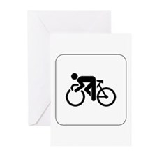 Cycling Icon Greeting Cards (Pk of 10)