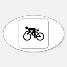 Cycling Icon Oval Decal