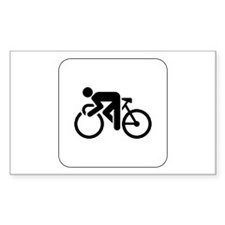 Cycling Icon Rectangle Decal