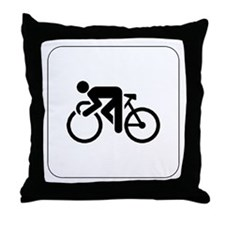 Cycling Icon Throw Pillow