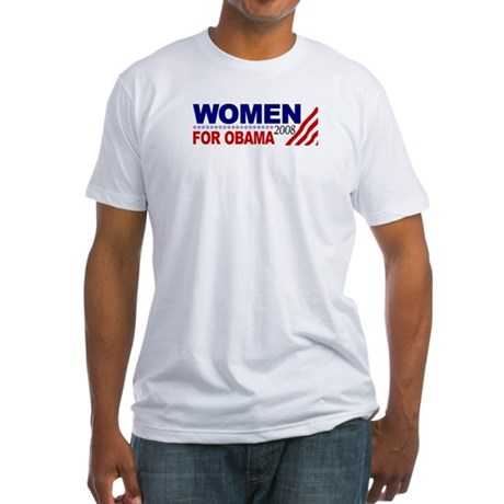 Women for Obama 2008 Fitted T-Shirt