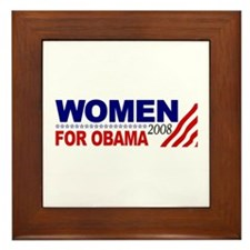 Women for Obama 2008 Framed Tile